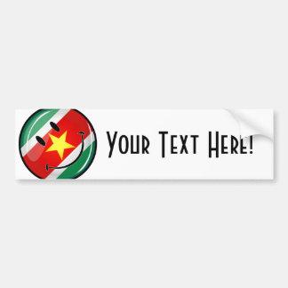 Adesivo Para Carro Bandeira redonda lustrosa de Suriname