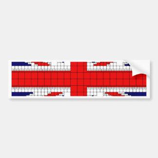 Adesivo Para Carro Bandeira Reino Unido do jaque de união patriótica