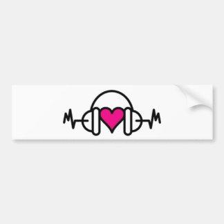 Adesivo Para Carro Batidas do coração cor-de-rosa do amor | com pulso