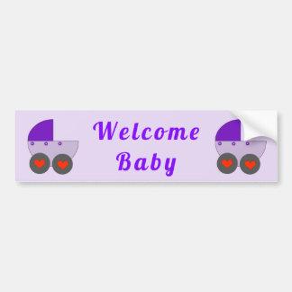 Adesivo Para Carro bebê bem-vindo
