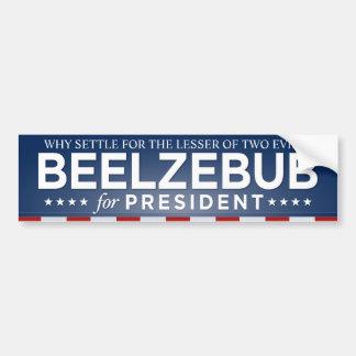 Adesivo Para Carro Beelzebub para o presidente autocolante no vidro