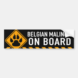 Adesivo Para Carro Belga Malinois a bordo