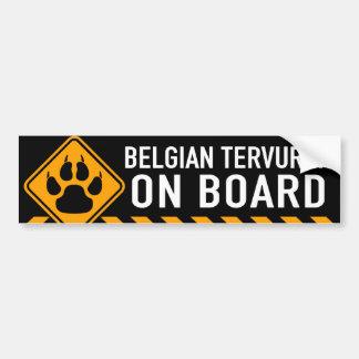 Adesivo Para Carro Belga Tervuren a bordo