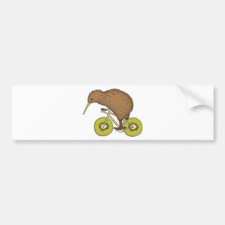 Adesivo Para Carro Bicicleta da equitação do quivi com rodas do quivi