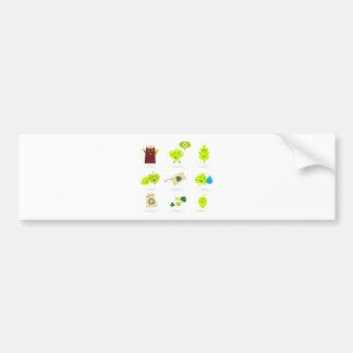 Adesivo Para Carro Bio verde bonito dos ícones dos miúdos