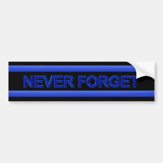 Adesivo Para Carro Blue Line fino - nunca esqueça