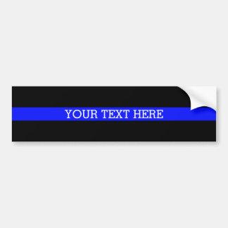 Adesivo Para Carro Blue Line fino - seu do texto autocolante no vidro
