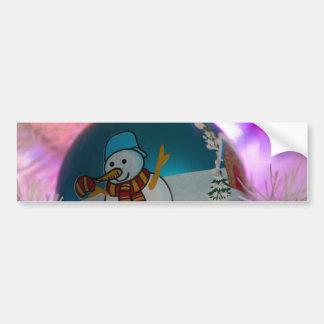 Adesivo Para Carro Boneco de neve - bolas do Natal - Feliz Natal