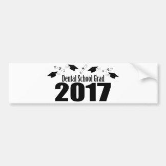 Adesivo Para Carro Bonés do formando 2017 da escola dental e diplomas