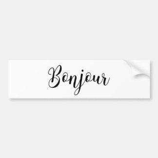 Adesivo Para Carro Bonjour-blackText