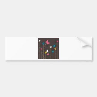 Adesivo Para Carro Borboleta e um flower3