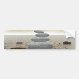 Adesivo Para Carro Borboletas em vôo em uma paisagem do zen