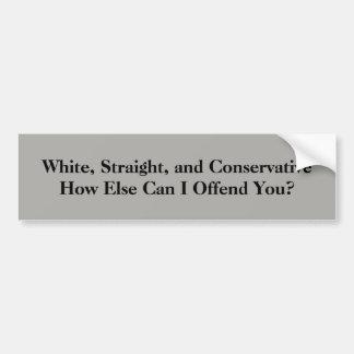 Adesivo Para Carro Branco, hetero, e conservador