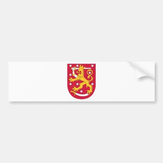 Adesivo Para Carro Brasão de Finlandia - Suomen Vaakuna