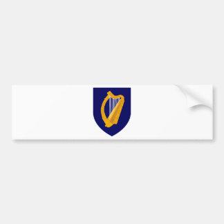 Adesivo Para Carro Brasão de Ireland - emblema irlandês