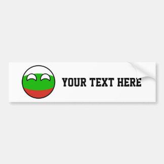 Adesivo Para Carro Bulgária Geeky de tensão engraçada Countryball