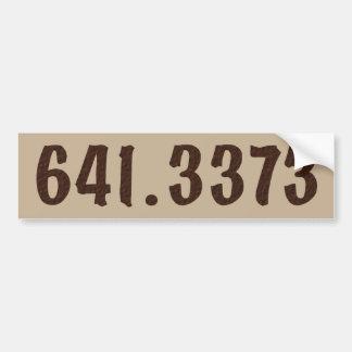 Adesivo Para Carro Bumpersticker decimal do café de Dewey