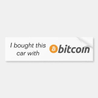 Adesivo Para Carro Bumpersticker - eu comprei este carro com Bitcoin