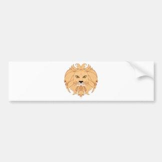 Adesivo Para Carro Cabeça estilizado do leão