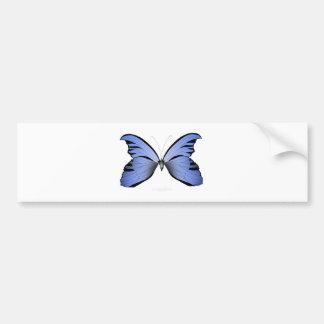 Adesivo Para Carro Caçador azul do Azure da borboleta 2