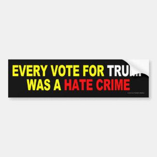 Adesivo Para Carro Cada voto para o trunfo era um crime de ódio