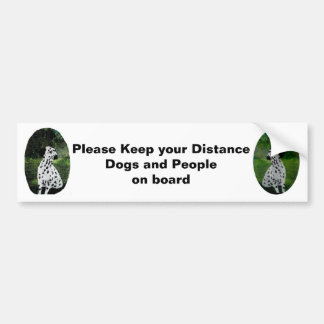 Adesivo Para Carro Cães Dalmatian da arte no aviso do carro