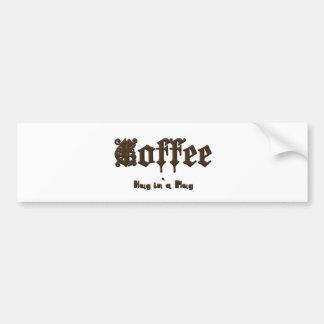 Adesivo Para Carro Café - um abraço em uma caneca    gótico