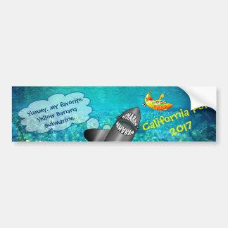 Adesivo Para Carro Califórnia, tubarão e submarino amarelo da banana