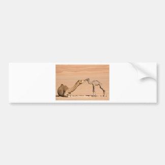 Adesivo Para Carro Camelo do bebê e sua mãe