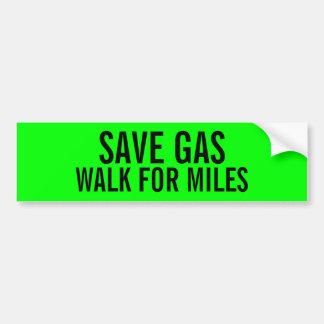 Adesivo Para Carro Caminhada engraçada do gás das economias para o