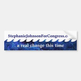 Adesivo Para Carro Campanha eleitoral azul 2018 da onda personalizada
