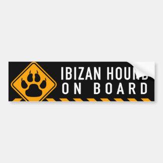 Adesivo Para Carro Cão de Ibizan a bordo