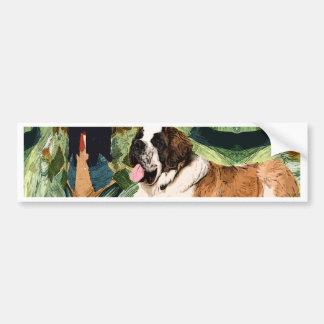 Adesivo Para Carro Cão de St Bernard