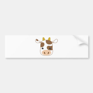 Adesivo Para Carro cara bonito da vaca