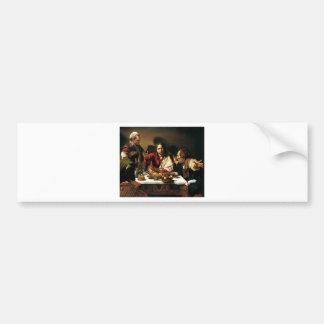 Adesivo Para Carro Caravaggio - ceia em Emmaus - pintura clássica