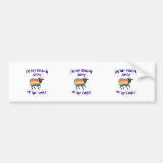 Adesivo Para Carro Carneiros do arco-íris da família