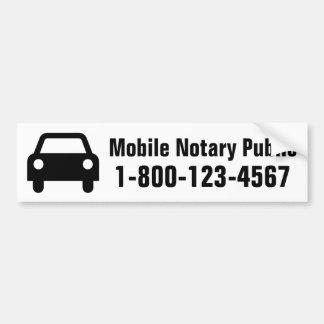 Adesivo Para Carro Carro móvel do notário