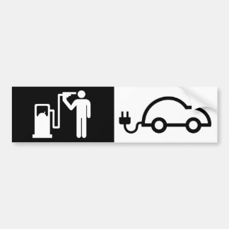 Adesivo Para Carro Carro verde elétrico humano da bomba de gás de