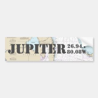 Adesivo Para Carro Carta de navegação da longitude da latitude de