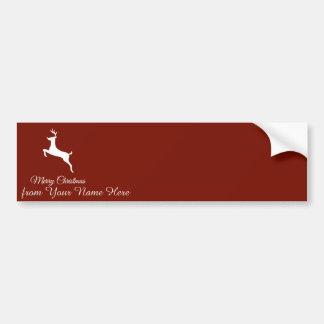 Adesivo Para Carro Cartões de natal elegantes da silhueta da rena