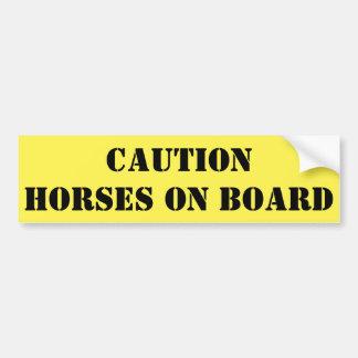 Adesivo Para Carro Cavalos do cuidado a bordo