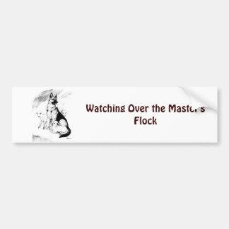 Adesivo Para Carro Céu do cão, o rebanho do mestre