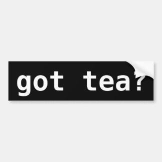 Adesivo Para Carro chá obtido? Tea party engraçado político