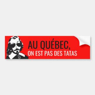 Adesivo Para Carro Champlain Hipster Quebeque não apalpou - o VOSSO