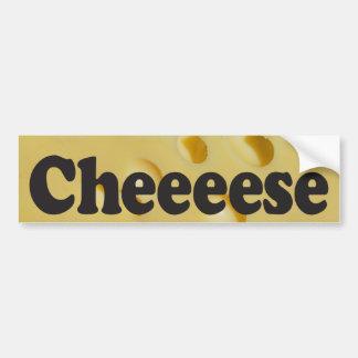 Adesivo Para Carro Cheeeese - autocolante no vidro traseiro