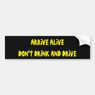 Adesivo Para Carro Chegue vivo não bebem e não conduzem
