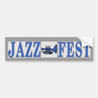 Adesivo Para Carro Chifre & letras azuis do Fest do jazz