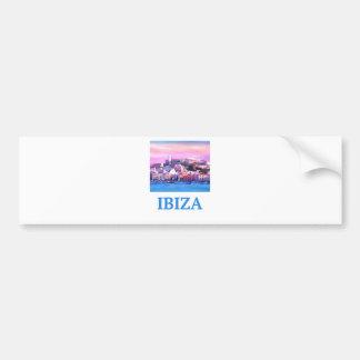 Adesivo Para Carro Cidade e porto velhos de Ibiza do poster retro