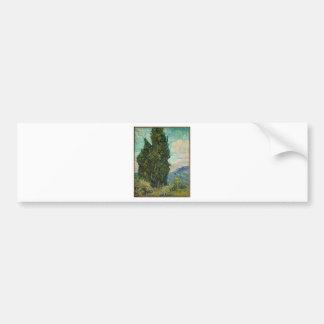Adesivo Para Carro Ciprestes de Van Gogh