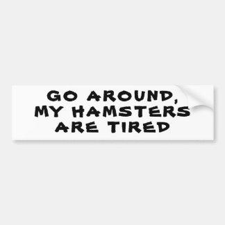 Adesivo Para Carro Circunde, meus hamster são cansado